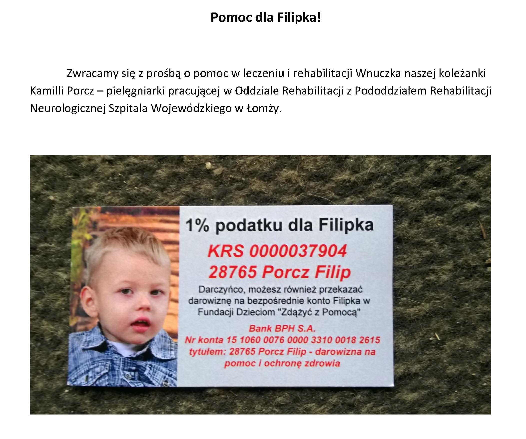 Pomoc dla Filipka