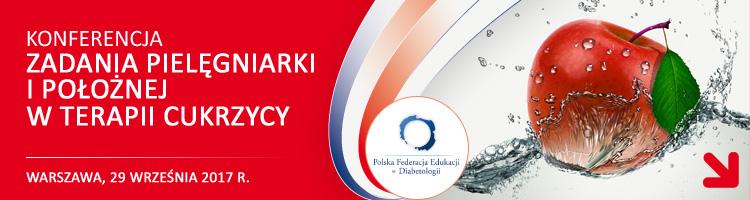 """V Jubileuszowa Konferencja """"Zadania pielęgniarki i położnej w terapii cukrzycy"""" – 29 września 2017r., Warszawa"""