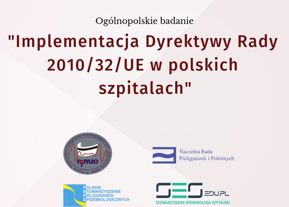 Badanie Implementacja Dyrektywy Rady 2010/32/UE w polskich szpitalach